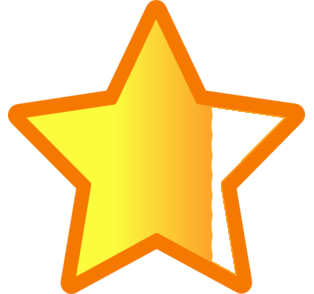 three quarter star